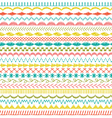 sewing stitch border patterns vector image vector image