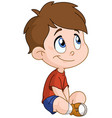 sitting boy vector image