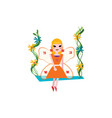 smiling fairy with magic wings cartoon girl vector image vector image