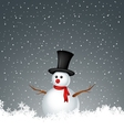 snowman with snow background vector image