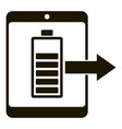 tablet battery charging icon simple style vector image