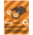 tanner color isometric poster vector image
