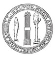 the first seal of new hampshire vintage vector image