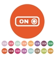 The on button icon Switch symbol Flat vector image vector image