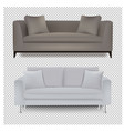 two sofa bed with isolated transparent background vector image vector image