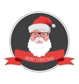 vintage card of hipster santa claus happy new year vector image