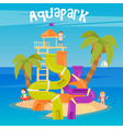 Water Park Summer Vacation Fun Aquapark Water Hill vector image vector image