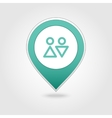 WC map pin icon vector image