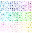 white banners with colorful dotted pattern vector image