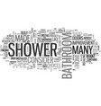 why not add a shower to your bathroom text word vector image vector image