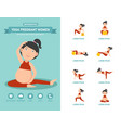 yoga pregnant women healthcare infographics vector image vector image