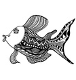 fish in zentangle vector image