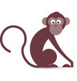 Funny cartoon monkey in vector image