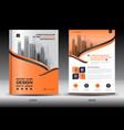 annual report brochure flyer templateorange cover vector image