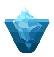 glacier melting moving ice cube vector image