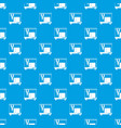 3d printer pattern seamless blue vector image vector image
