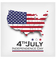 america map and flag independence day usa 4th vector image vector image