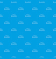 autumn cloud pattern seamless blue vector image vector image