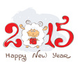 background - year sheep vector image vector image