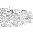 backlinks anyone text word cloud concept vector image vector image
