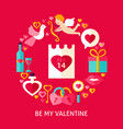 be my valentine postcard vector image