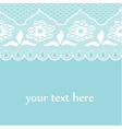 blue lace vector image vector image