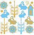 bunny seamless pattern it is located in swatch vector image