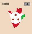 burundi map border with flag eps10 vector image
