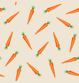 carrot vegetables seamless pattern on orange vector image