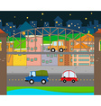 Cars driving in the city vector image