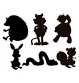 Cartoon Animals Silhouette vector image vector image