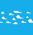 cartoon clouds pattern vector image