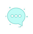 chat sms text icon design vector image