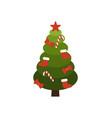 christmas tree made of circles vector image
