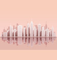cityscape with skyscrapers vector image