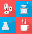 coffee icons in sequence cooking vector image vector image