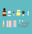 colorful set of health medical background vector image