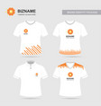 company logo shirts design with flower logo vector image