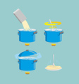 Cooking pasta icons set vector image vector image