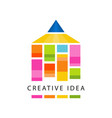 creative idea logo original template with abstract vector image vector image