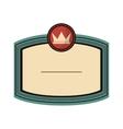 crown masculine emblem icon vector image