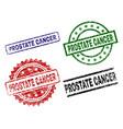 damaged textured prostate cancer stamp seals vector image