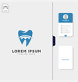 dental logo template get free business card vector image vector image