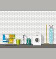 different household utensils vector image vector image