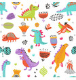 dino pattern vector image