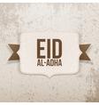 Eid al-Adha festive paper Emblem vector image