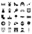 excellent wine icons set simple style vector image vector image