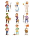Farmers people set vector image