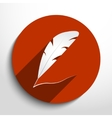feather pen web icon vector image