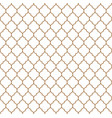 flat outline moroccan seamless pattern vector image